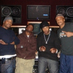 Qtip, Busta, Sean C and LV after recording